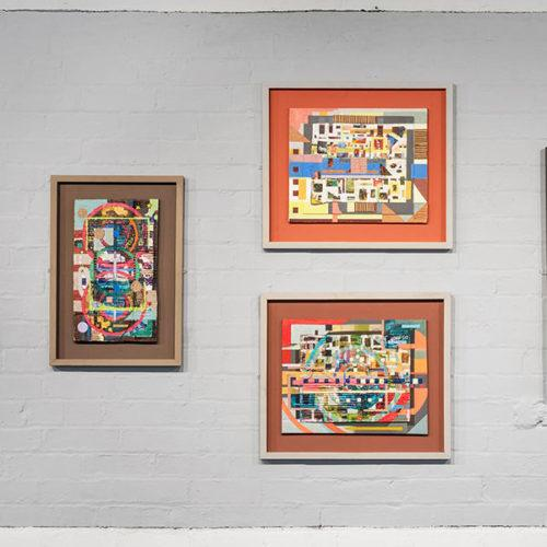 3 paintings on the wall