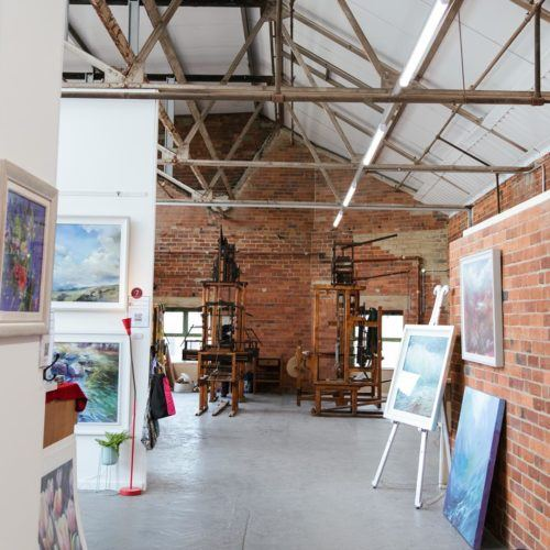 Art gallery view at Sunny Bank Mills
