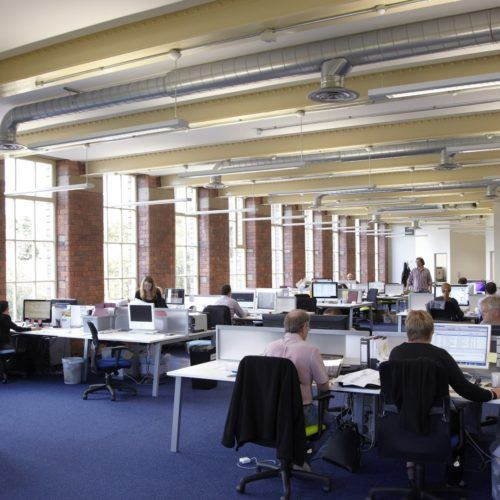 Busy office space at '1912' Sunny Bank Mills, Leeds