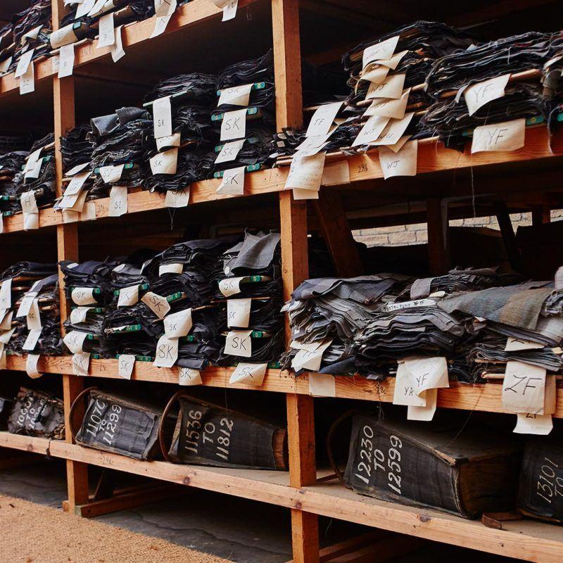 Cloths rack at Sunny Bank Mills