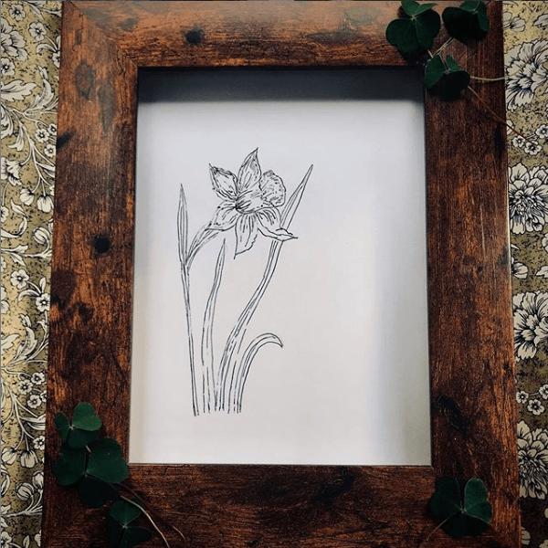Sarah Weelands handmade photo frame