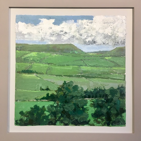 Green country painting available to buy at Sunny Bank Mills, Leeds.