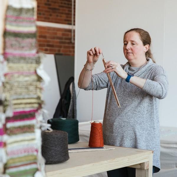 Weaving at Sunny Bank Mills